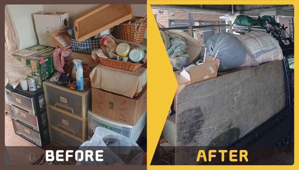 お部屋に大量にある大量の不用品の処理にお困りのお客様からご依頼いただきました。