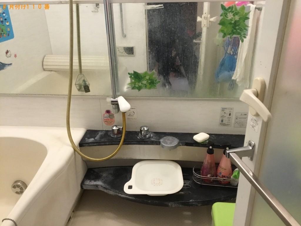 不用品処分と洗面台・浴室・トイレのクリーニング希望。