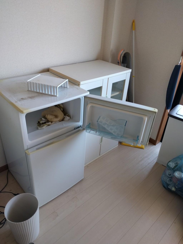 【直方市下境】冷蔵庫、洗濯機、食器棚の出張不用品回収・処分ご依頼