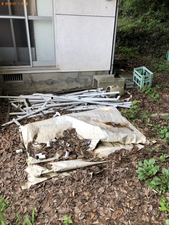 【直方市】ラック、ポリバケツ、木材などの出張不用品回収・処分ご依頼
