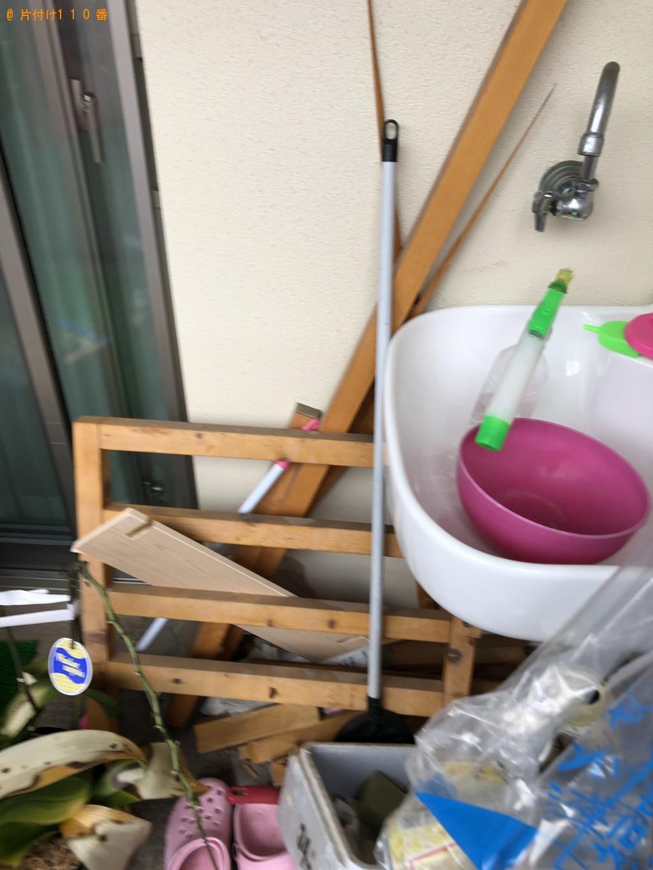 【福岡市城南区】ダブルベッドフレーム、家庭ごみ、植木鉢の回収・処分 お客様の声