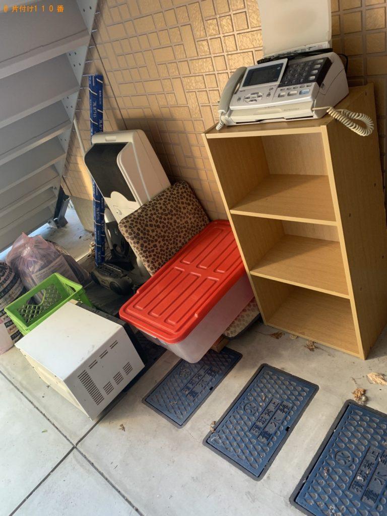 【嘉麻市】遺品整理で冷蔵庫、洗濯機、家具調こたつ、収納ケース等の回収・処分