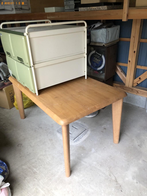 【飯塚市】整理タンス、2人用ダイニングテーブルの回収・処分ご依頼
