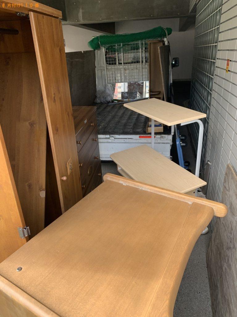 【嘉麻市】遺品整理に伴い整理タンス、クローゼット、学習机の回収・処分ご依頼