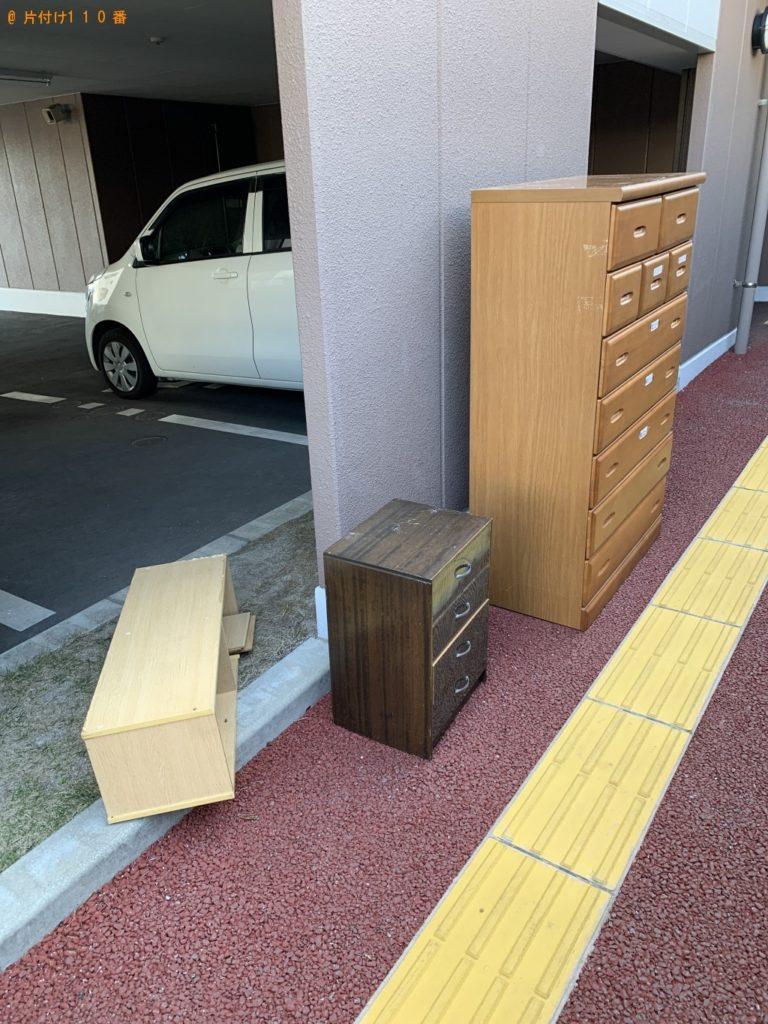 【福津市】遺品整理に伴い冷蔵庫、タンス、カラーボックス、椅子の回収・処分