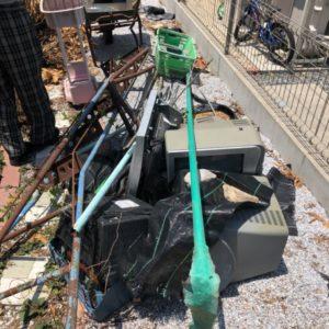 【大野城市】ブラウン管テレビ、工事用一輪車、物置等の回収・処分