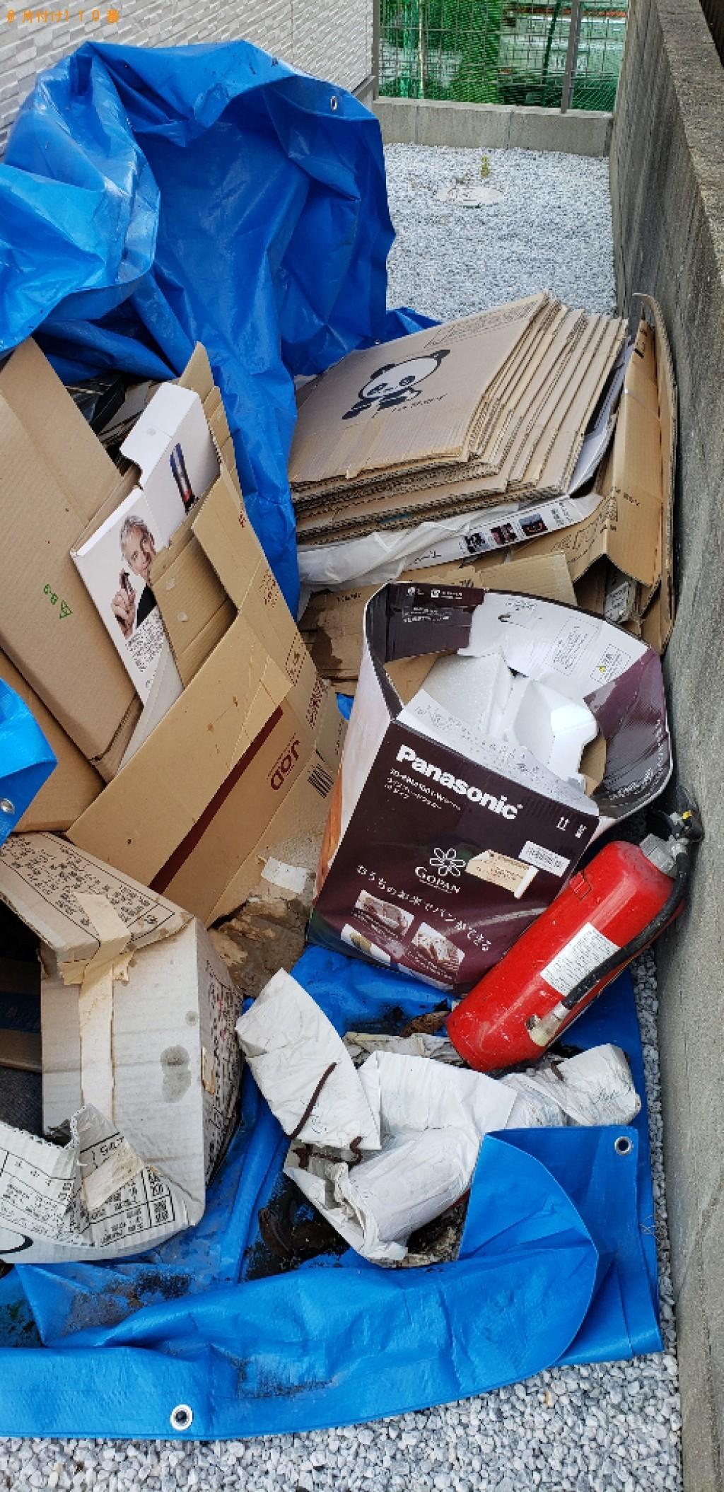 【糟屋郡志免町】ダンボール、ブルーシート、消火器等の回収・処分