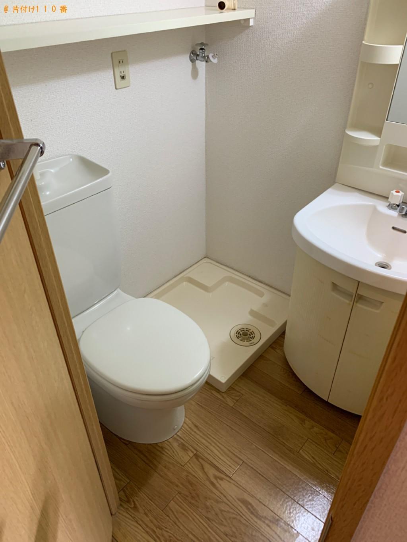 【福岡市中央区】冷蔵庫、テレビ、シングルベッド等の回収と片付け