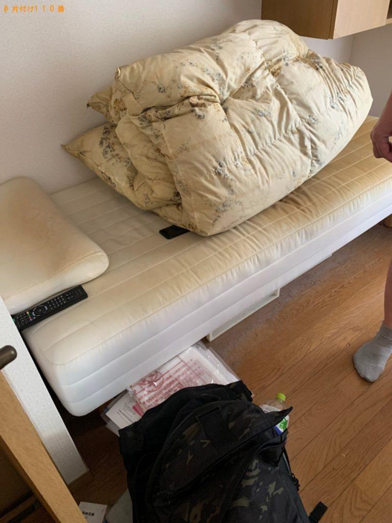 【八女市】遺品整理に伴い冷蔵庫、テレビ、シングルベッド等の回収と片付け