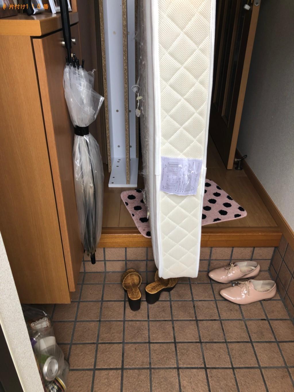 【遠賀郡水巻町】シングルベッド、ベッドマットレスの回収・処分