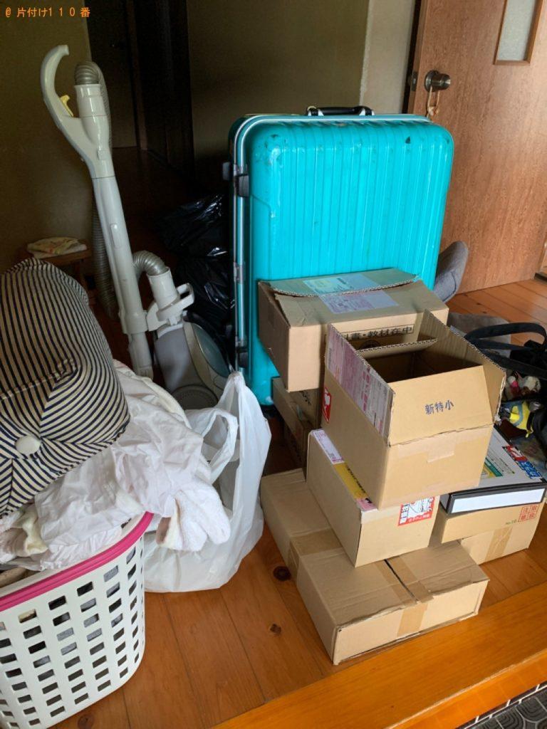 【行橋市】遺品整理に伴い衣類、スーツケース、本、掃除機等の回収・処分ご依頼