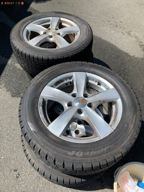 【福岡市博多区】自動車タイヤ(ホイールあり) の回収・処分ご依頼