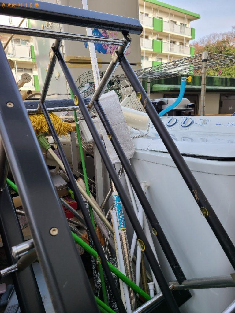 【田川市】遺品整理で洗濯機、メタルラック、掃除器具、突っ張り棒等の回収