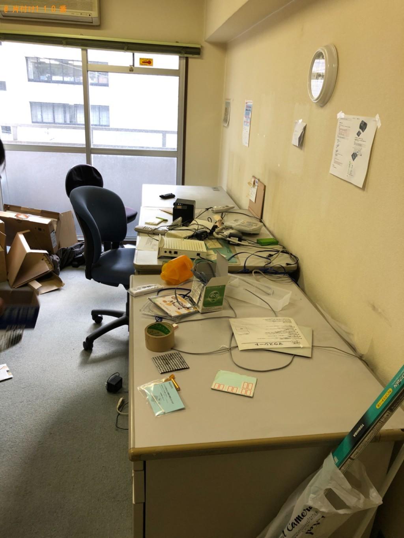 【福岡市博多区】事務机、椅子、家電等の回収・処分ご依頼