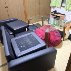 【糟屋郡志免町】三人掛けソファー、ガラステーブル等の回収・処分