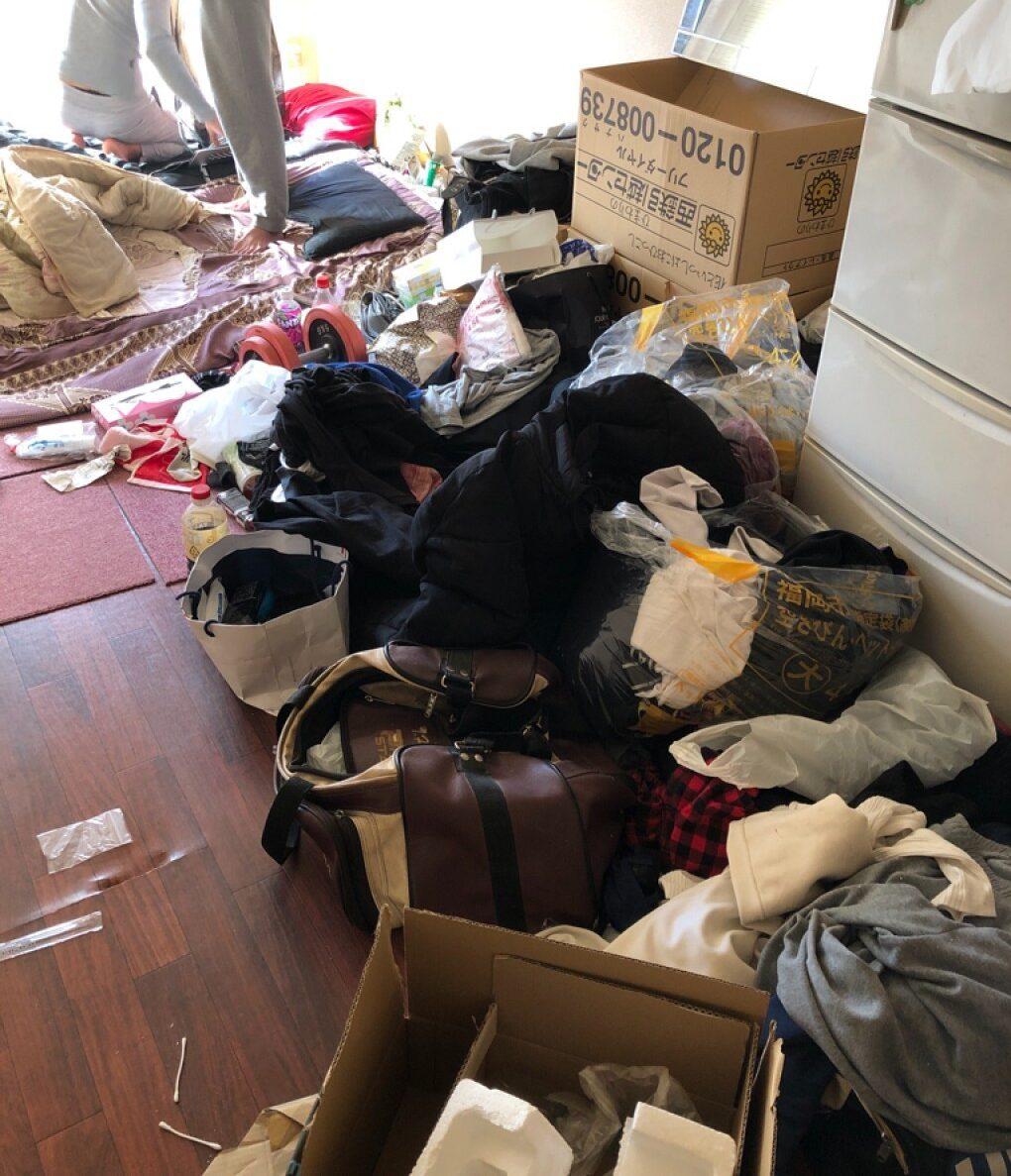 【福岡市中央区】部屋の片付けと不用品の回収・処分ご依頼