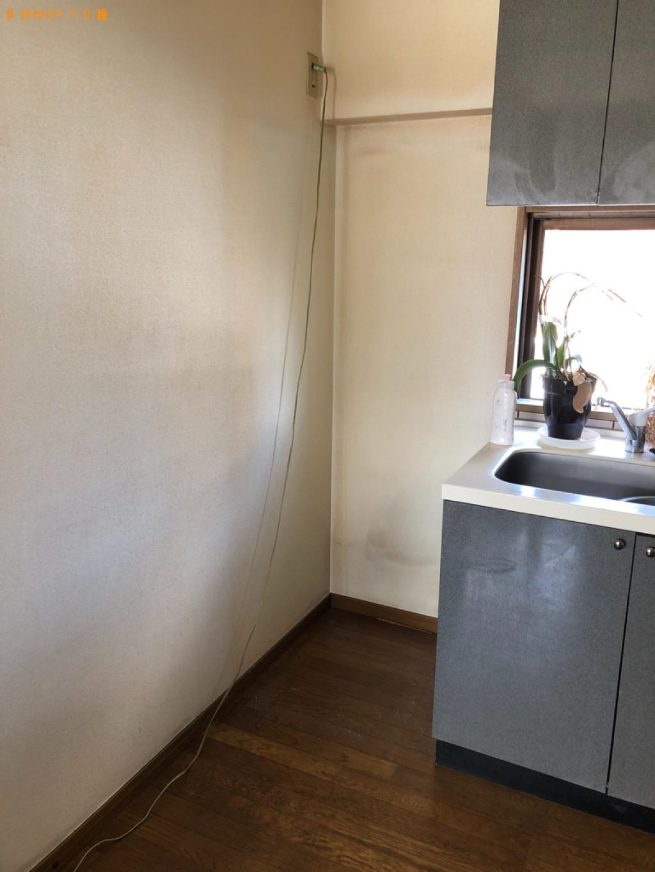 【福岡市南区】食器棚、冷蔵庫、シングルベッドの回収・処分ご依頼