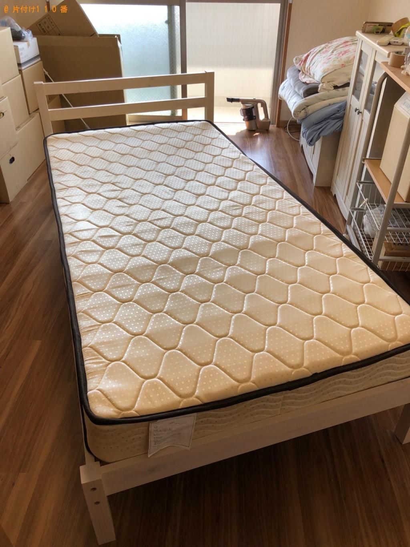 【福岡市南区】マットレス付きシングルベッドの回収・処分ご依頼