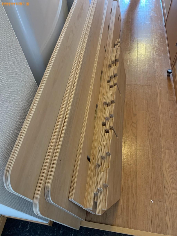【福岡市東区】マットレス付きセミダブルベッドの回収・処分ご依頼