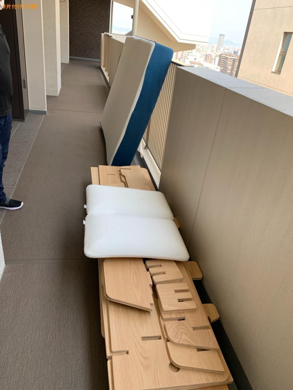【福岡市】布団、マットレス付きダブルベッドの回収・処分ご依頼